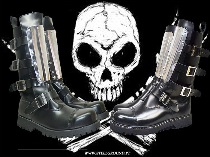 Plate steel boots