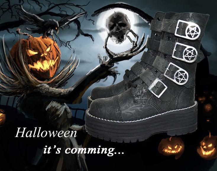 Halloween bota pentagrama