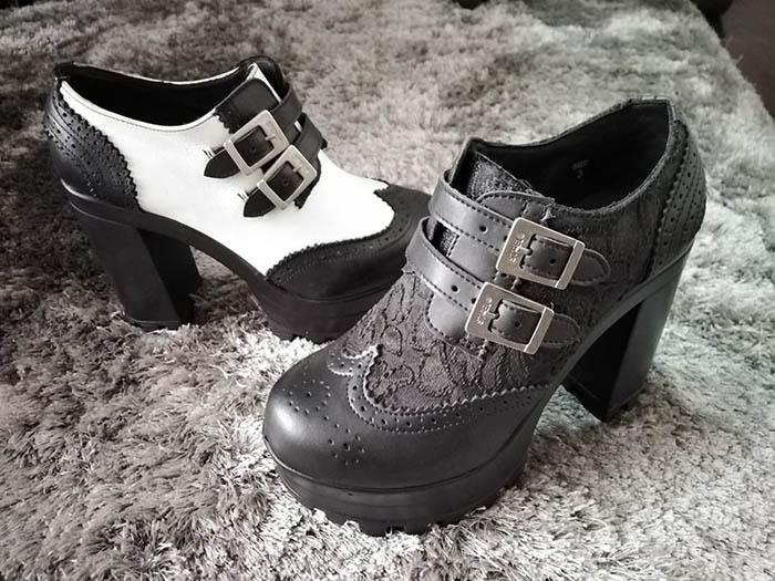 Valerie brogue ankle heel shoe